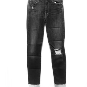 MOTHER High Waister Looker Ankle Fray Jean (sz 26)
